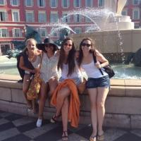 Sasha FL in France fountain photo 6